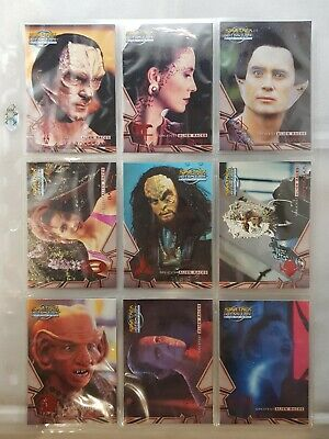 Star Trek DS9 Memories From The Future Greatest Alien Races Set AR1-AR9, 1:4