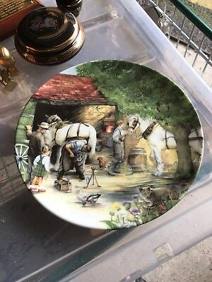 Royal Doulton The Blacksmith Old Country Crafts Limited Edition Plate