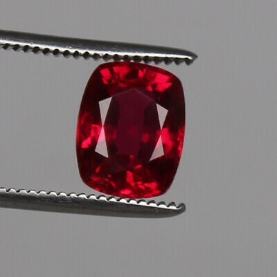 Natural Mozambique Red Ruby Top Quality 6.35 Ct. Cushion Cut Loose Certified Gem