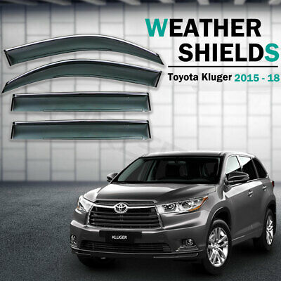 Best Weather shields Window Visors Weathershields For Toyota Kluger 2015 - 2018