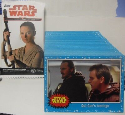 2017 Topps Star Wars Voyage vers The Last Jedi Complet 1-110 Carte Ensemble