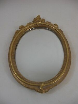 Nice Medium Size Gold Gilt French Victorian Rococo Style Oval Mirror