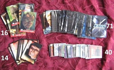 2000 Artbox X-Men The Movie Action  3D, 40 cards & 71 cards X-MEN & 30 OTHRES