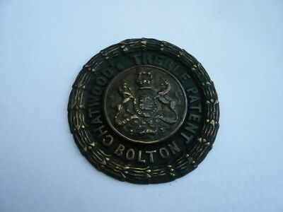 Rare Antique Chatwoods of Bolton Brass Safe plaque escutcheon Plate.