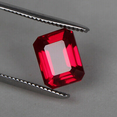 Natural Mozambique Red Ruby Top Quality 5.45 Ct. Octagon Cut Loose Certified Gem