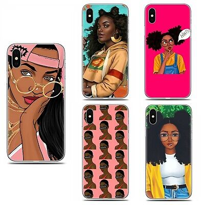 Afro Girls Melanin Poppin fashion beauty case cover for iphone 6 7 8 X XS MAX XR