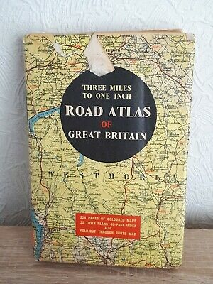 Vintage road atlas of Great Britain (Johnston and Bacon)