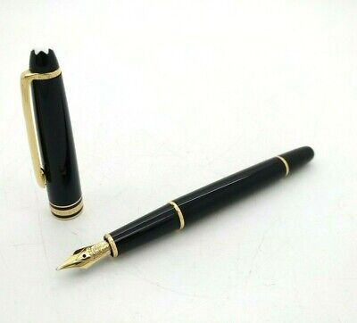Fountain Pen MONTBLANC Meisterstuck 144 Black Resin & Gold Trims - 14k Gold Nib