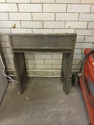 reclaimed metal fire surround