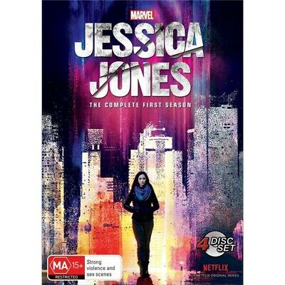 Jessica Jones Season 1 (DVD, 2016, 4-Disc Set, Region 4) Marvel Comics