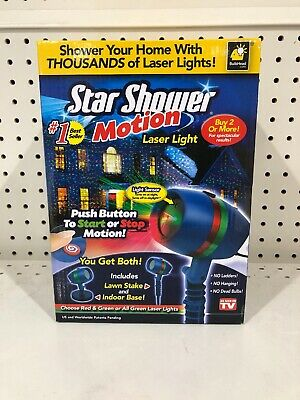 Star Shower Outdoor Laser Christmas Lights Star Projector.Star Shower As Seen On Tv Motion Laser Christmas Lights Star Projector New N Box
