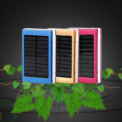 20000mAh Dual USB Portable Solar Battery Charger Solar Power Bank For PhonePLUS