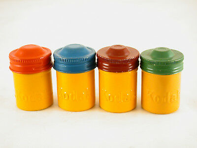 35Mm Kodak Cans+Different Color Tops+Two Different Top Styles+Fairly Good Cond