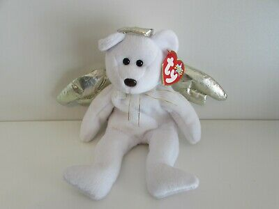 d3fc6c0c52a TY Beanie Baby Halo II 2 Angel Bear Gold Wings Brown Nose DOB January 14