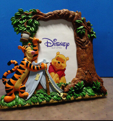"""Disney Picture Frame 4"""" X 6"""", Tigger Camping"""