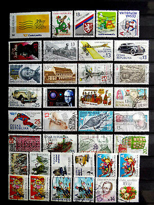 Small used stamps collection of Czech Republic as scan.