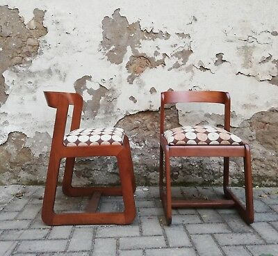 Coppia Sedie Vintage Sabot Design Willy Rizzo