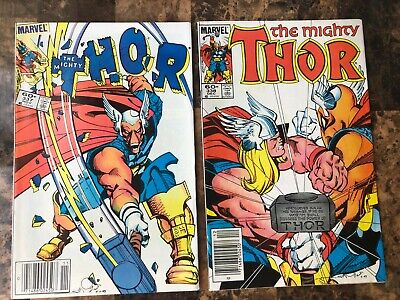 Marvel: Mighty Thor #337-340, 1St Appearance Of Beta Ray Bill, Key, 1983, Vf/nm!
