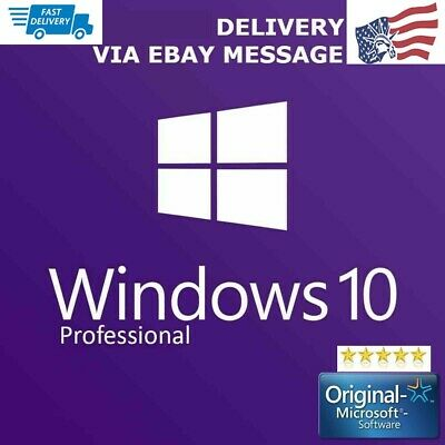2019 Microsoft Windows 10 Pro Key Activation Product Key License Code 32/64 bit