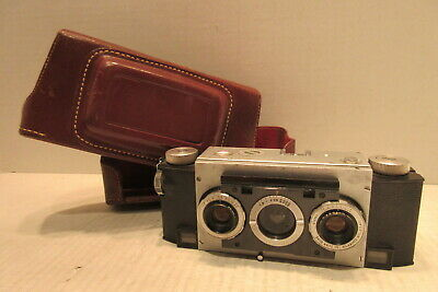 David White Co. Stereo Realist 3D Camera 35mm F:3.5 Anastigmat Lens with Case