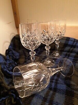 """5x Large Bohemia 111 Crystal Glasses 7"""" (18cm tall) Water Goblets"""