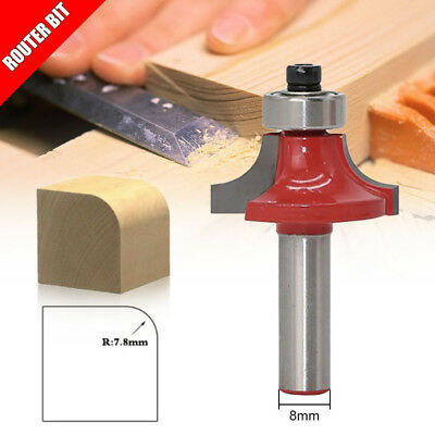 8 Shank 8mm Woodworking Round Router Bit Wood Trimming Cutter Tools