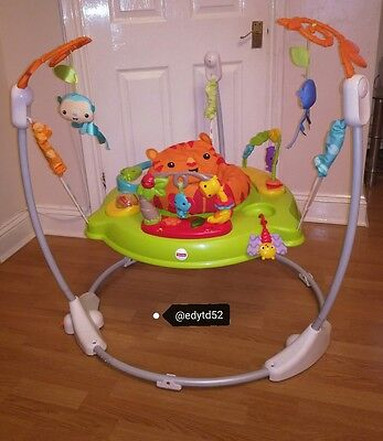 146d2cf6a FISHER PRICE JUMPEROO roaring rainforest bouncer baby toy activity ...