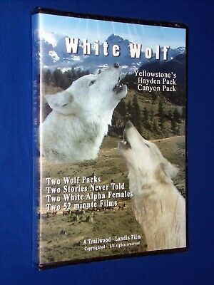 NEW! SEALED! White Wolf Wolves DVD Yellowstone Hayden Pack & Canyon Pack 104 min