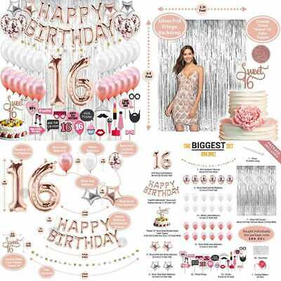 16Th Birthday Decorations Party Supplies Sweet 16 Balloons ROSE GOLD Confetti Ca