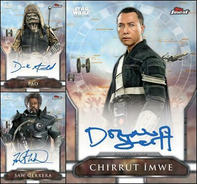 Topps Star Wars Card Trader FINEST SELECTS 2019 Rogue One [3 CARD SIGNATURE SET]