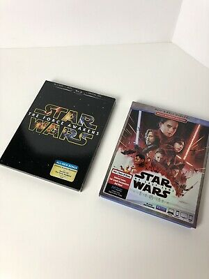 Star Wars Force Awakens & The Last Jedi BluRay/DVD Sets - Like New Condition