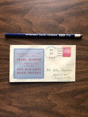 Remember Pearl Harbor Letter And Pencil