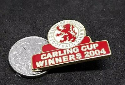 Middlesbrough Football Club Carling Cup Winners 2004 Pin Badge (14)