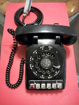 Western Electric Model #564HD 5-Line with Hold Black Rotary Desk Set 4/1970