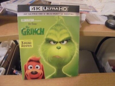 4K Ultra HD + Blu Ray + Digital Movie of  Dr Suess' The Grinch Rated PG #2