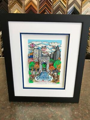 "Charles Fazzino "" Sunday in the Park "" 3-D Art Signed & Number Edition Framed"