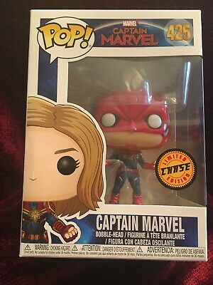 Funko Pop Captain Marvel Movie Masked Figure/ Chase Limited Edition
