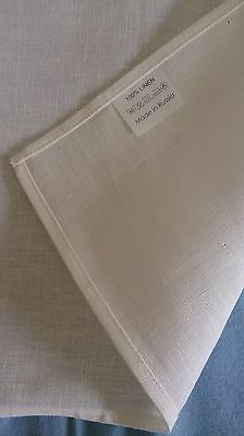Linen tea towel 100%, off white color, hemmed border, 70 x 49cm made in Russia