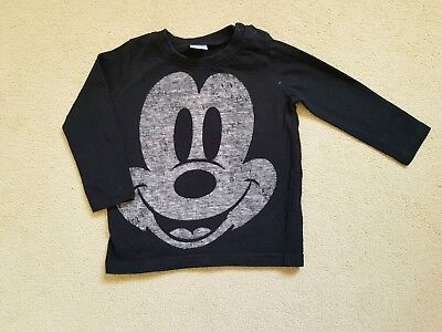 Boys Ex High Street R.I Mickey Mouse T-shirt Sizes 3-6-9-12-18 NEW