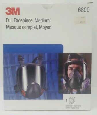 3M 6800 Full Facepiece Respirator Medium Reusable, Respiratory Protection