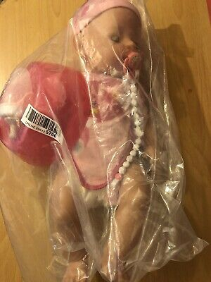 New Born Soft Bodied Baby Doll Toy with Outfit Milk Bottle Toy