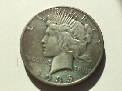 1935-S $1 Peace Silver Dollar -  As Pictured