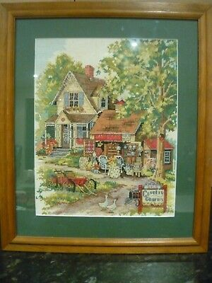 Handcrafted Tapestry Country Charm/Antiques Theme-Professionally Framed-As New