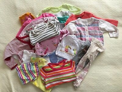 Bundle Of Baby Girls Clothes 6-12 M, 24 Items