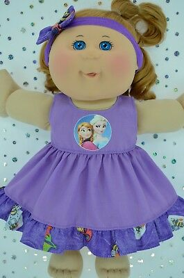 "Play n Wear Doll Clothes To Fit 14"" Cabbage Patch PATTERN/LILAC DRESS~HEADBAND"