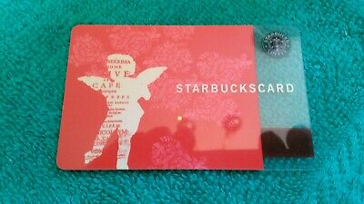 17 Year Old STARBUCKS USA CUPID Gift Card LIGHTLY USED Solid Card w/Shine!