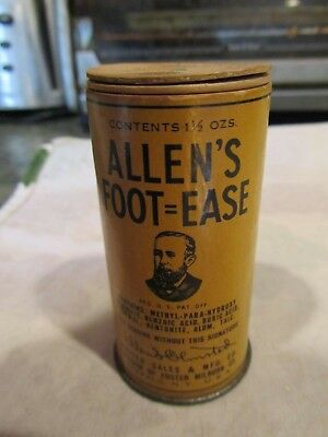 <W@W> Antique Late 19th Early 20th Century  Container Allen's Foot=Ease <W@W