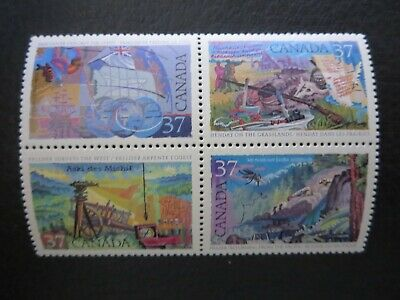 "Canada Stamps  #1199-1202 1988 ""exploration Of Canada --3"" Block"