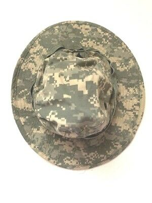 9d601206fe9 NEW US Military Issue Army Combat ACU Camo Type 4 Sun Hat Cap Sz 7 1