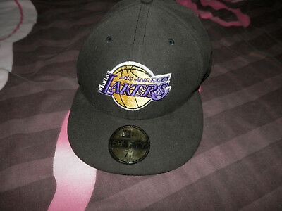 Casquette Snapback NBA Noir New Era Los Angeles Lakers 59 fifty 7 1/4